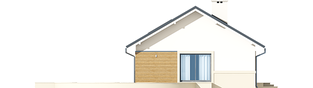 Projekt domu Kornel ENERGO - elewacja lewa