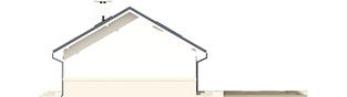 Projekt domu Kornel ENERGO - elewacja prawa