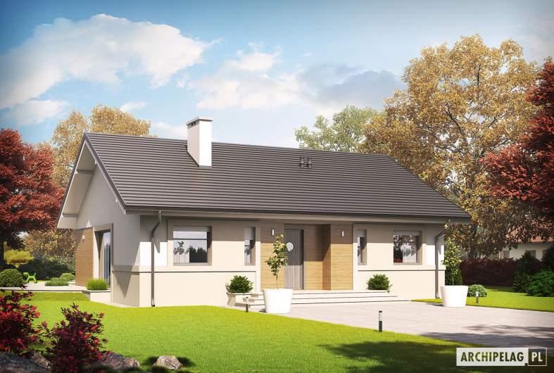 Projekt domu Kornel ENERGO - wizualizacja frontowa