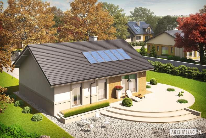 Projekt domu Kornel ENERGO - widok z góry lewy