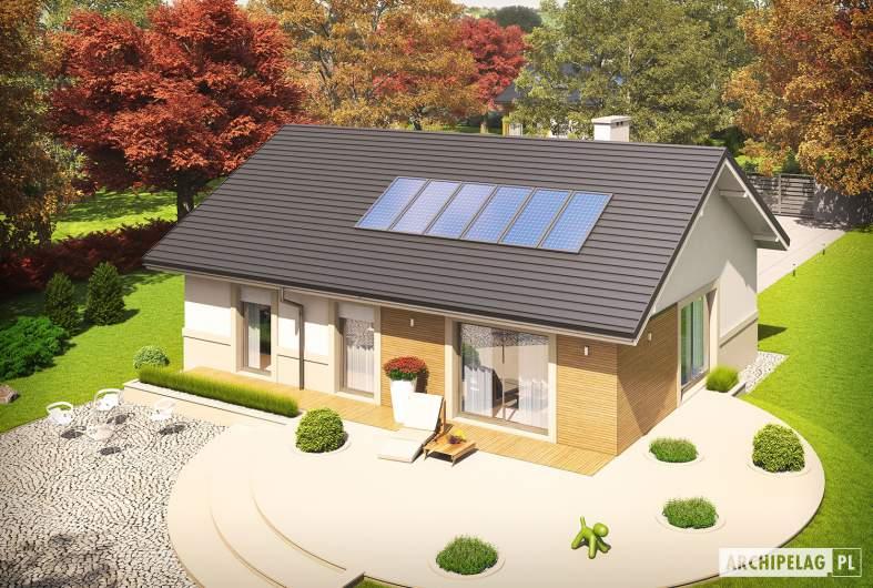 Projekt domu Kornel ENERGO - widok z góry prawy
