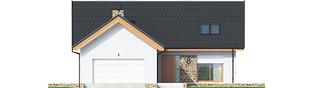 Projekt domu Simon (mały) G2 - elewacja frontowa