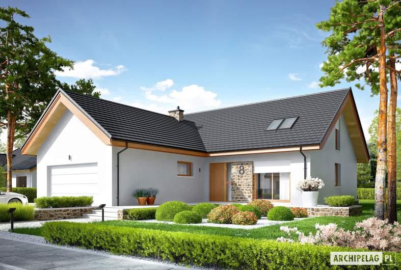 Projekt domu Simon (mały) G2 - wizualizacja frontowa