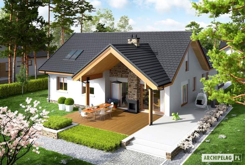 Projekt domu Simon (mały) G2 - widok z góry