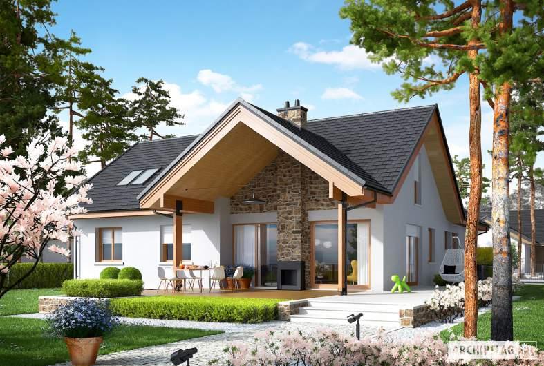 Projekt domu Simon (mały) G2 - wizualizacja ogrodowa
