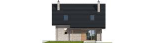 Projekt domu Oli - elewacja tylna