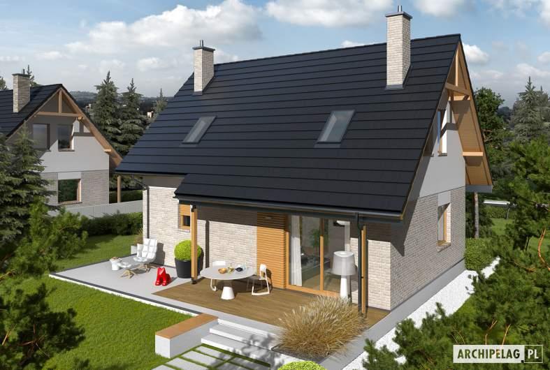 Projekt domu Oli - Projekty domów ARCHIPELAG - Oli - widok z góry