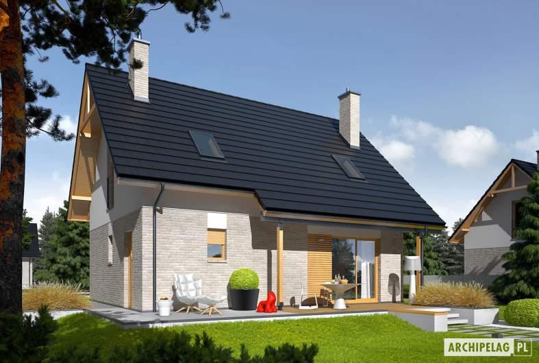Projekt domu Oli - Projekty domów ARCHIPELAG - Oli - wizualizacja ogrodowa
