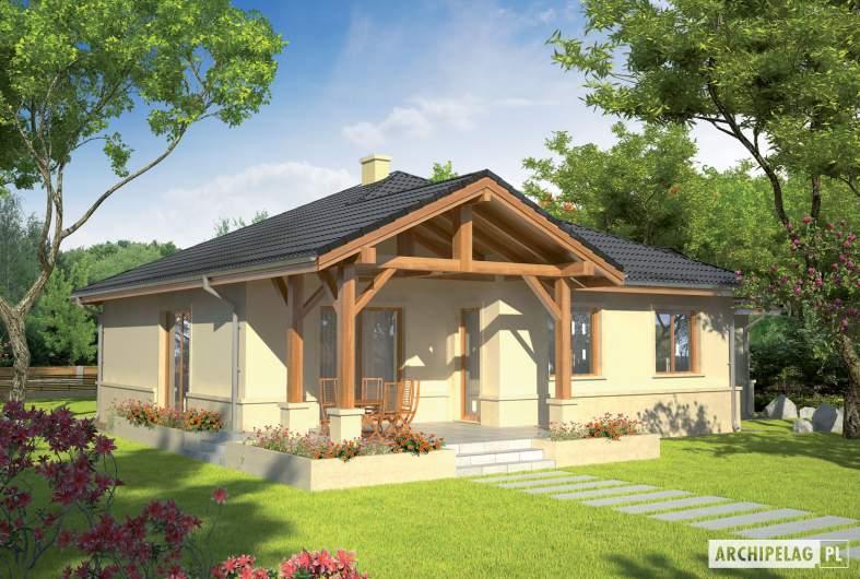 Projekt domu Apollo G1 - wizualizacja ogrodowa
