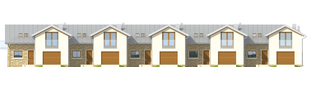 Projekt domu Lina G1 - elewacja frontowa