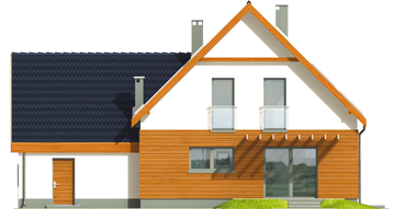 Fabricia II G2 - Projekt domu Fabrycja II G2 - elewacja tylna