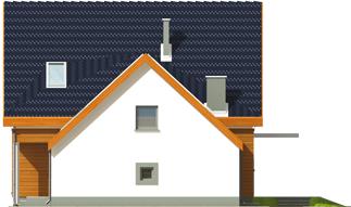 Fabricia II G2 - Projekt domu Fabrycja II G2 - elewacja prawa