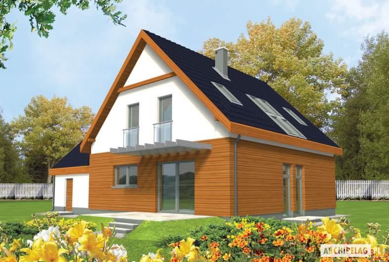 Projekt domu Fabrycja II G2 - wizualizacja ogrodowa