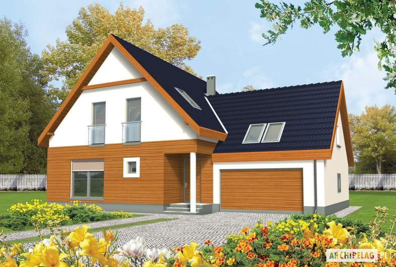 Projekt domu Fabrycja II G2 - wizualizacja frontowa