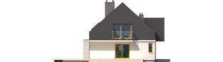 Projekt domu E5 G1 ECONOMIC (wersja B) - elewacja lewa