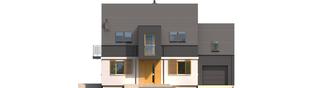 Projekt domu E5 G1 ECONOMIC (wersja B) - elewacja frontowa