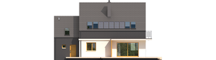 Projekt domu E5 G1 ECONOMIC (wersja B) - elewacja tylna