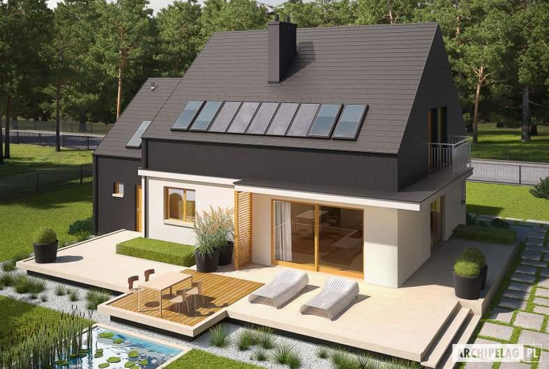 Projekt domu E5 G1 ECONOMIC (wersja B) - widok z góry