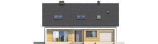 Projekt domu Liv 5 G1 - elewacja frontowa