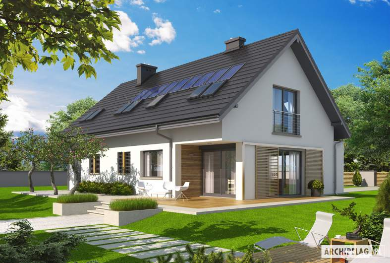Projekt domu Liv 5 G1 - wizualizacja ogrodowa