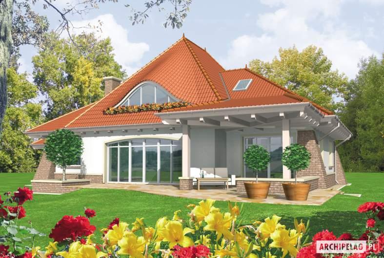 Projekt domu Kora G2 - wizualizacja ogrodowa