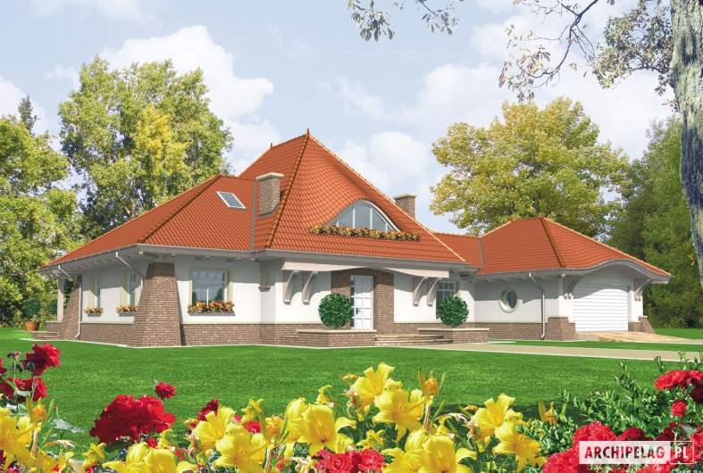 Projekt domu Kora G2 - wizualizacja frontowa