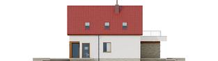 Projekt domu E13 II G1 ECONOMIC - elewacja lewa