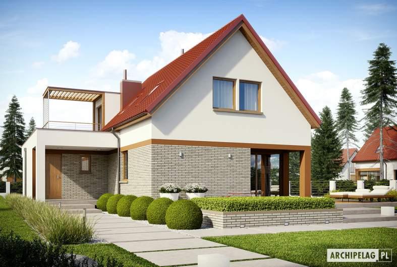 Projekt domu E13 II G1 ECONOMIC - wizualizacja ogrodowa
