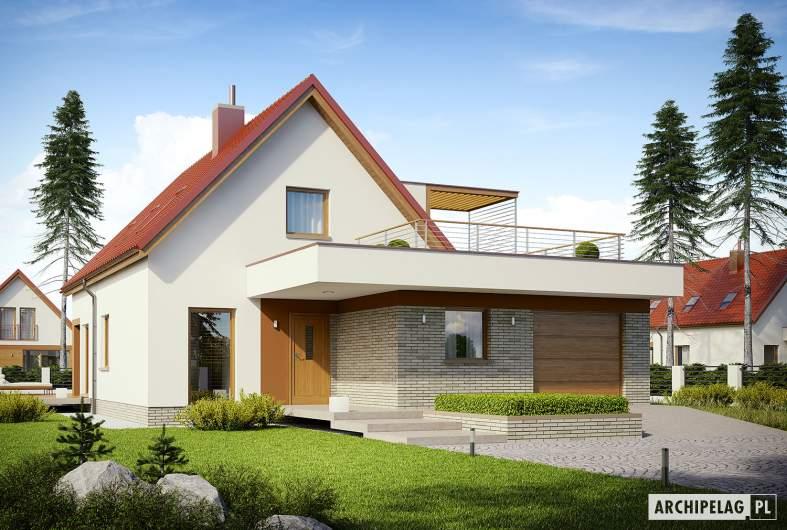 Projekt domu E13 II G1 ECONOMIC - wizualizacja frontowa