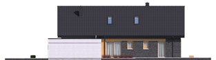 Projekt domu Daniel IV G2 - elewacja prawa