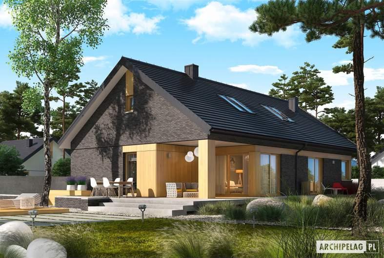 Projekt domu Daniel IV G2 - wizualizacja ogrodowa
