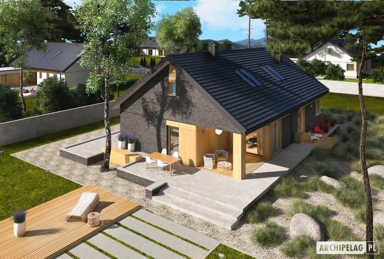 Projekt domu Daniel IV G2 - widok z góry