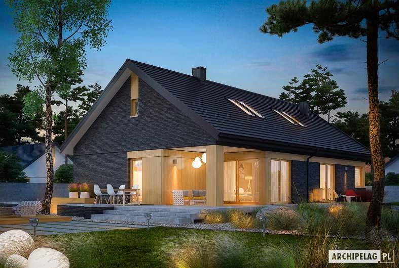 Projekt domu Daniel IV G2 - wizualizacja ogrodowa nocna