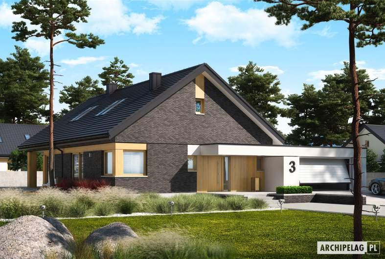 Projekt domu Daniel IV G2 - wizualizacja frontowa