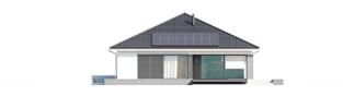 Projekt domu Alison G2 ENERGO PLUS - elewacja tylna