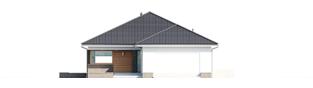 Projekt domu Alison G2 ENERGO PLUS - elewacja frontowa