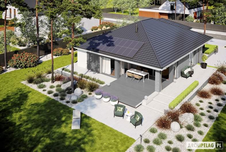 Projekt domu Alison G2 ENERGO PLUS - widok z góry