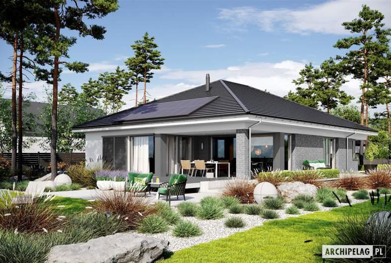 Projekt domu Alison G2 ENERGO PLUS - wizualizacja ogrodowa