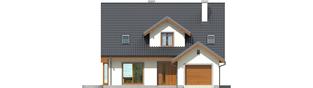 Projekt domu Kalina (nowa) G1 - elewacja frontowa