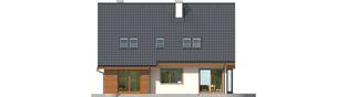Projekt domu Kalina (nowa) G1 - elewacja tylna
