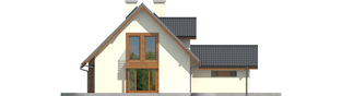 Projekt domu Kalina (nowa) G1 - elewacja lewa