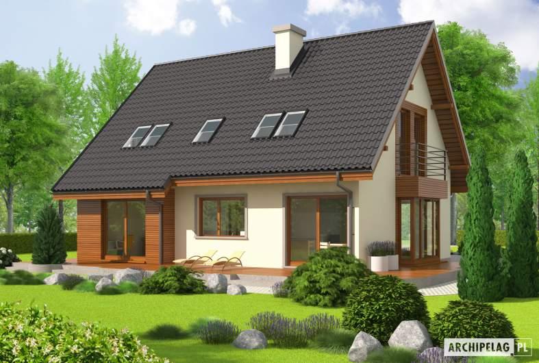 Projekt domu Kalina (nowa) G1 - wizualizacja ogrodowa