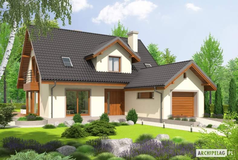 Projekt domu Kalina (nowa) G1 - wizualizacja frontowa
