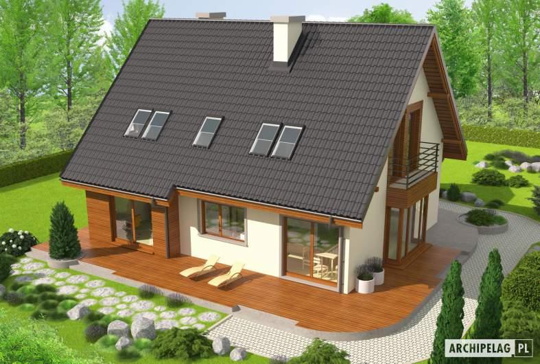 Projekt domu Kalina (nowa) G1 - widok z góry