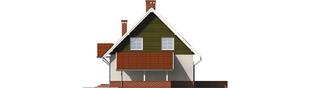 Projekt domu Honoratka (z wiatą) - elewacja prawa