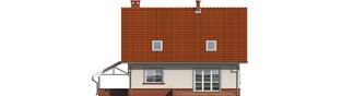 Projekt domu Honoratka (z wiatą) - elewacja tylna