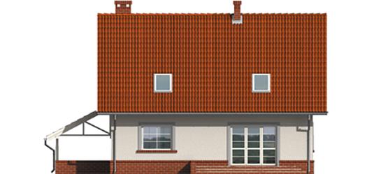 Honorary - Projekt domu Honoratka (z wiatą) - elewacja tylna