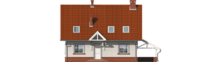 Projekt domu Honoratka (z wiatą) - elewacja frontowa