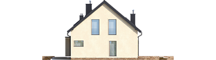 Projekt domu E14 III G1 ECONOMIC - elewacja prawa