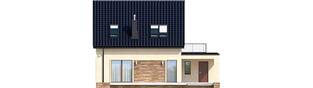 Projekt domu E14 III G1 ECONOMIC - elewacja tylna